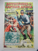 Adventures of Captain Africa, Chapt 12, Original Movie Poster, John Hart , '55
